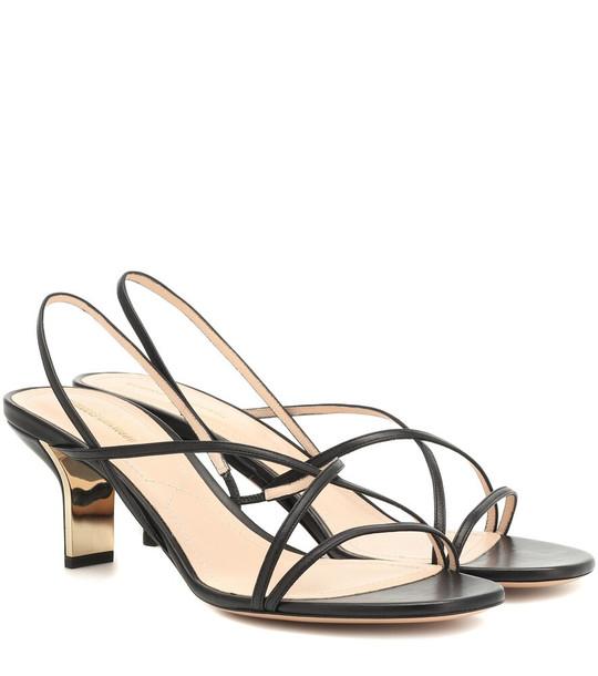 Nicholas Kirkwood Leeloo 60 leather sandals in black