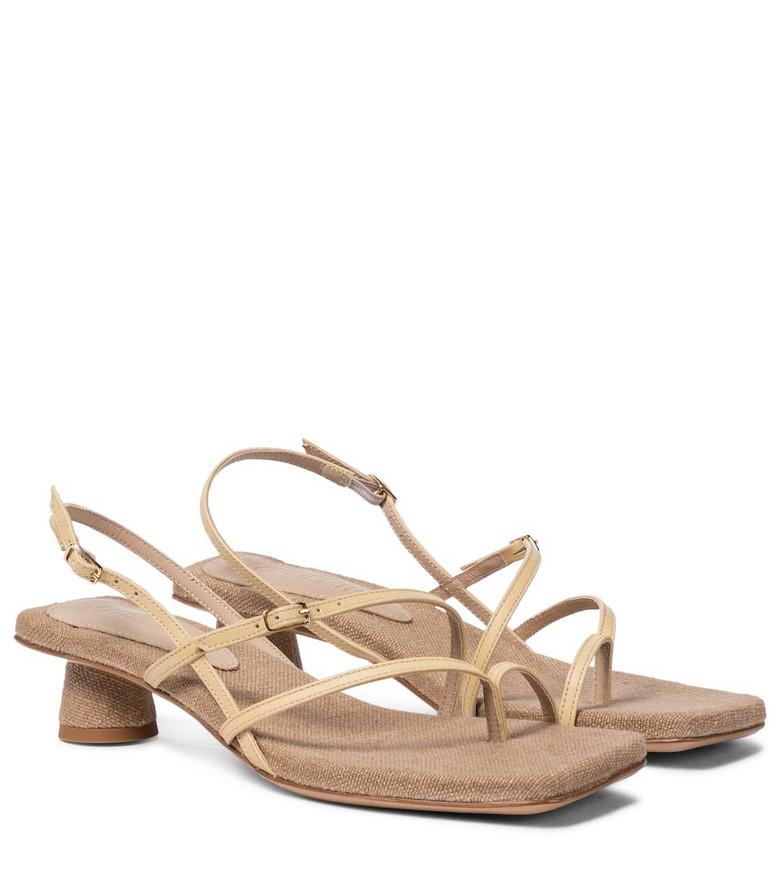 Jacquemus Les Sandales Basgia leather sandals in beige