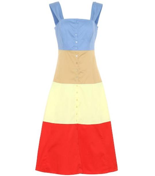 Staud Ariel cotton midi dress