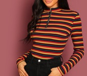 blouse,girly,girl,girly wishlist,zip,zip-up,stripes,striped top