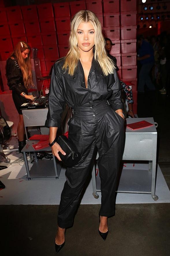 jumpsuit sofia richie celebrity pants top black jumpsuit fashion week