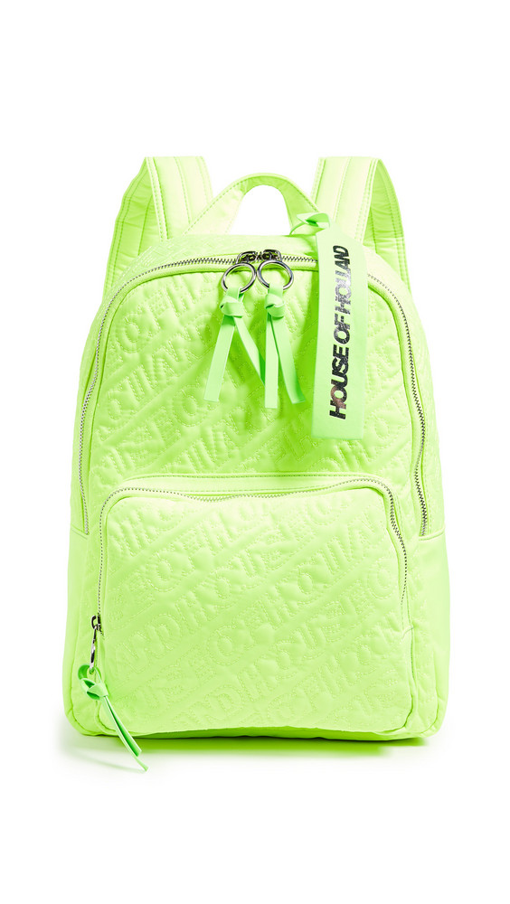 House of Holland Embroidered Backpack in green