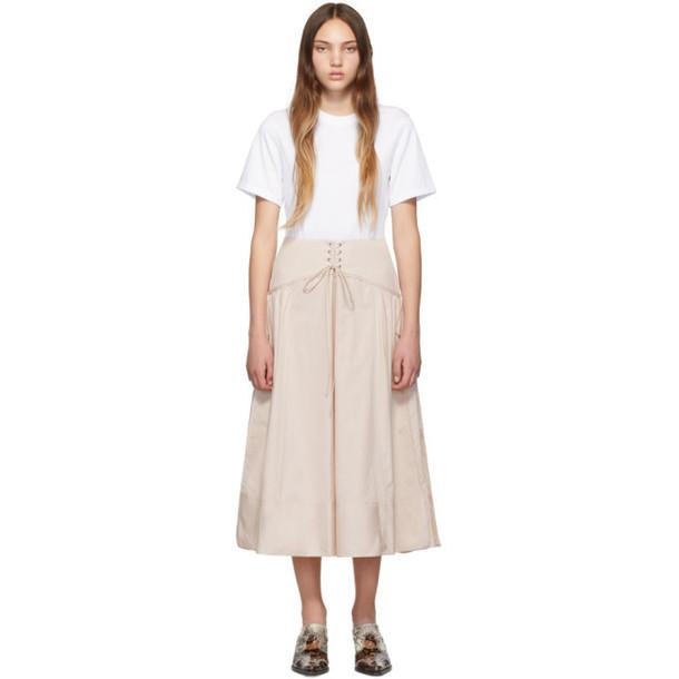 3.1 Phillip Lim White & Beige T-Shirt Corset Dress