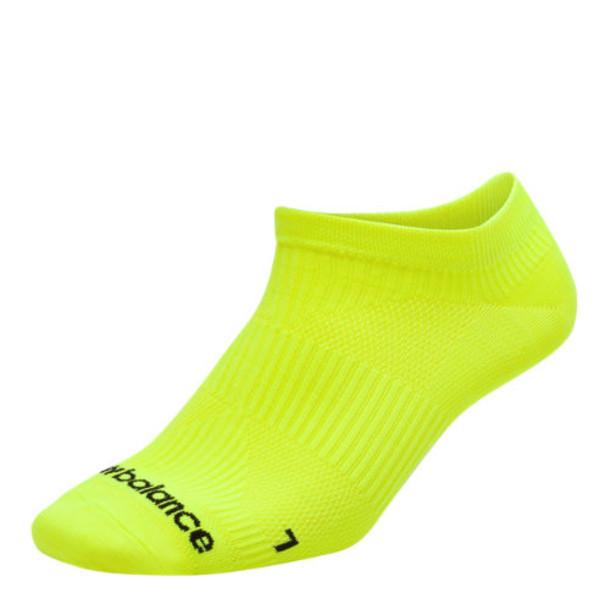 New Balance Men's & Women's Run Flat Knit No Show Socks - Yellow (LAS55321YL)