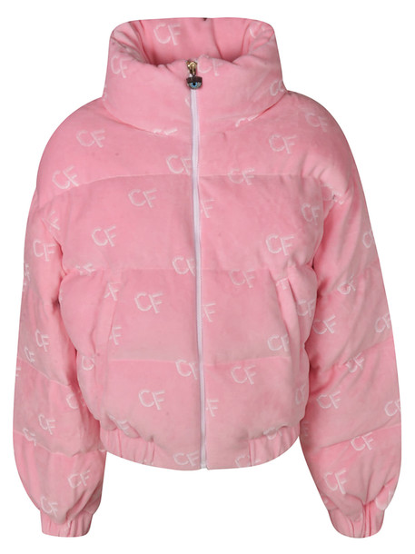 Chiara Ferragni Cf All-over Logo Padded Jacket in pink