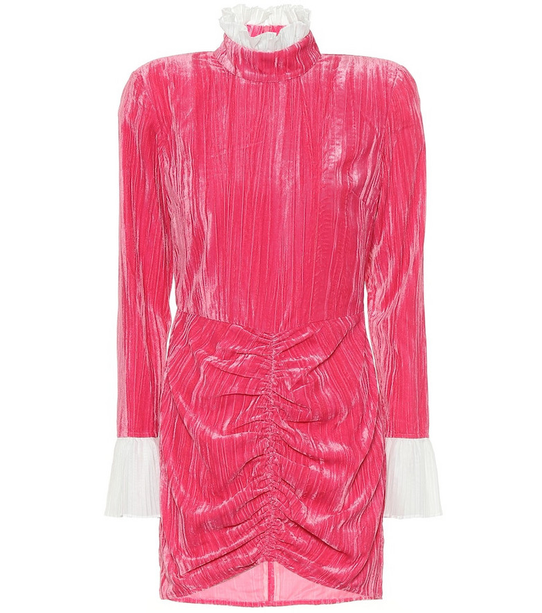 ROTATE BIRGER CHRISTENSEN Miki velvet minidress in pink