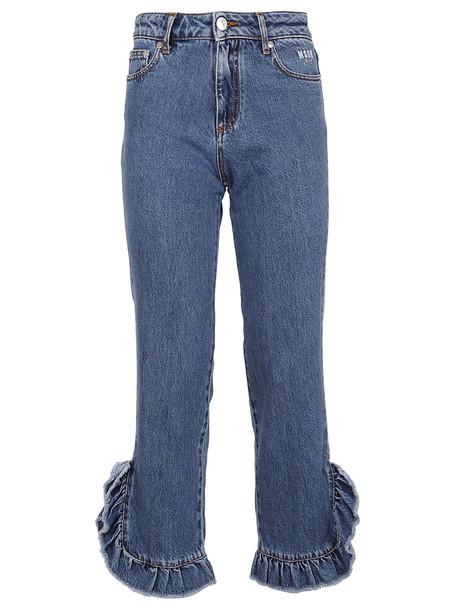 Msgm Ruffled Jeans