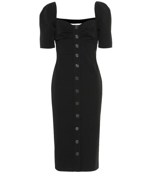 Veronica Beard Trace twill midi dress in black