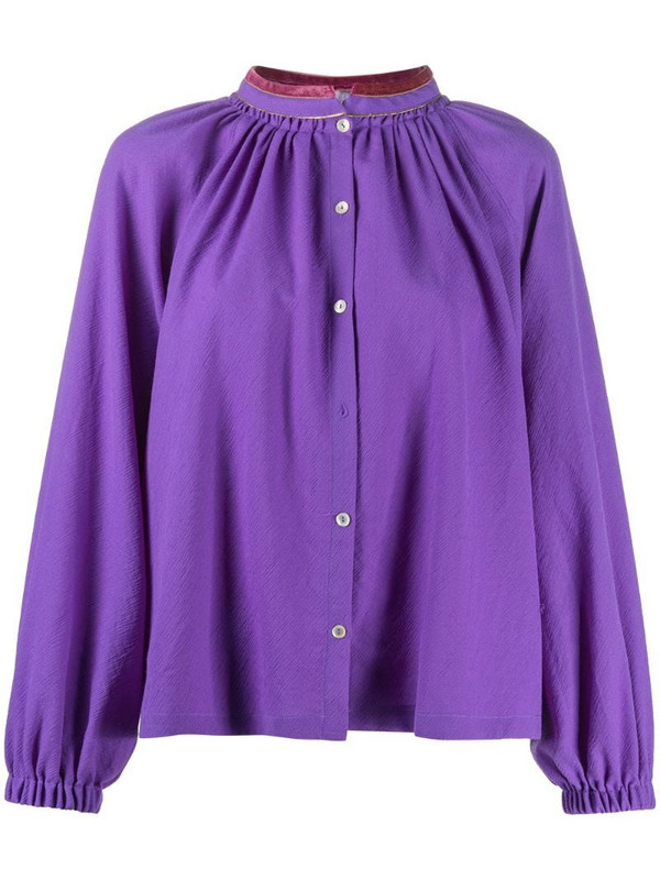 Forte Forte gathered blouse in purple
