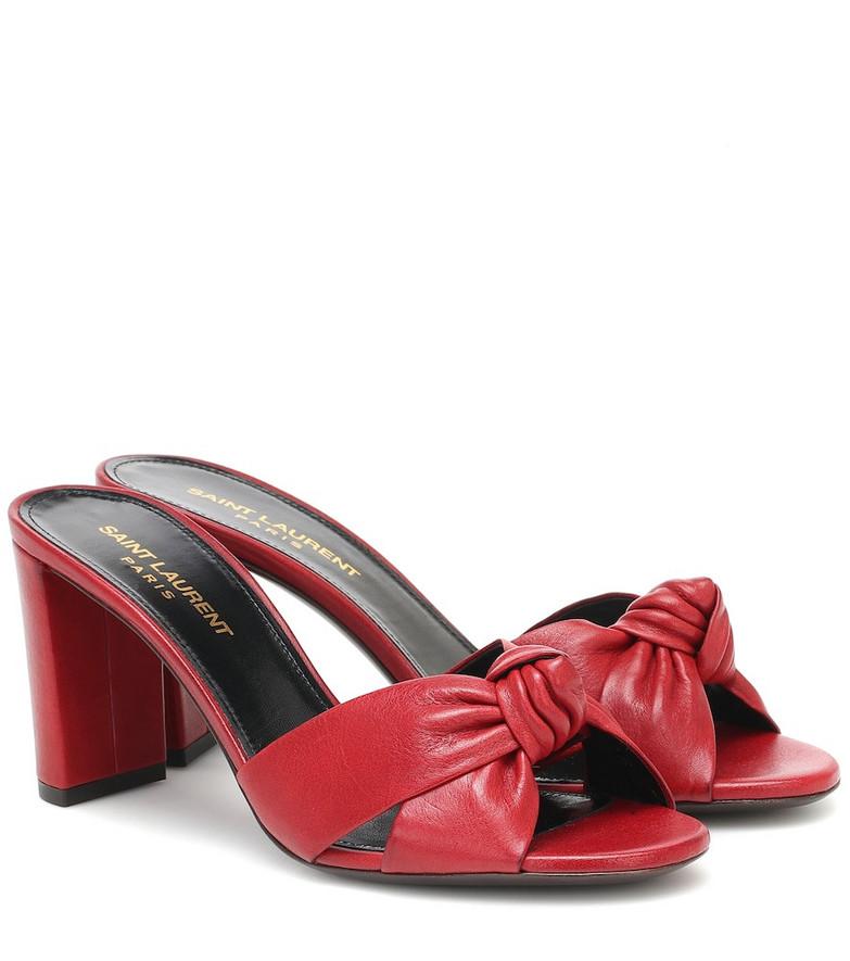 Saint Laurent Bianca 75 leather sandals in red