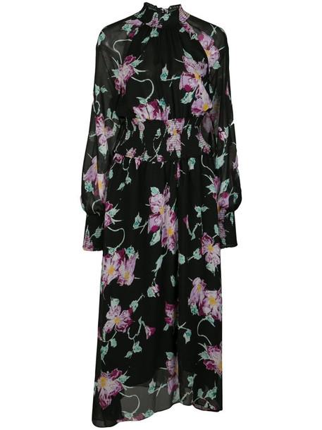 A.L.C. Casey floral print midi dress in black