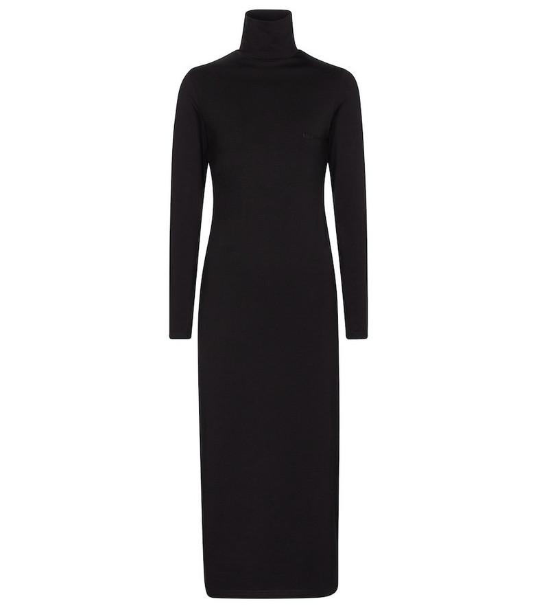 Balenciaga Stretch-cotton jersey midi dress in black