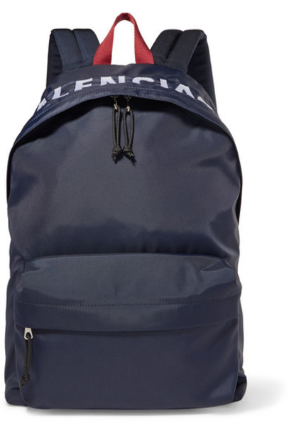 Balenciaga - Wheel Embroidered Shell Backpack - Navy