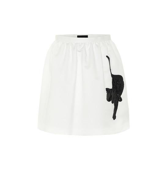 Undercover Embellished nylon miniskirt in white
