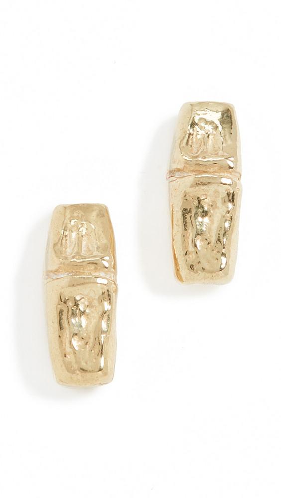 Maison Monik Boucle Bamboo Earrings in gold