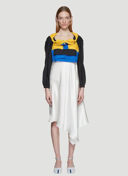 Maison Margiela Tech Jacket Attached Bias Slip Dress in White size IT - 42