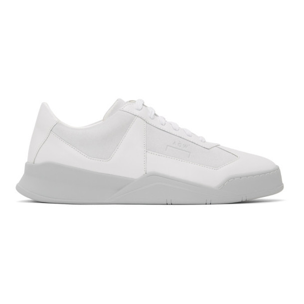 A-Cold-Wall* White and Grey Logo Shard Sneakers