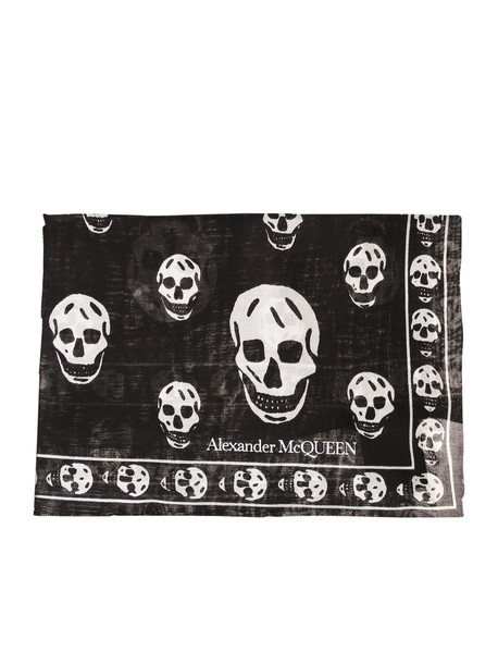 Alexander McQueen Modal And Silk Scarf in black