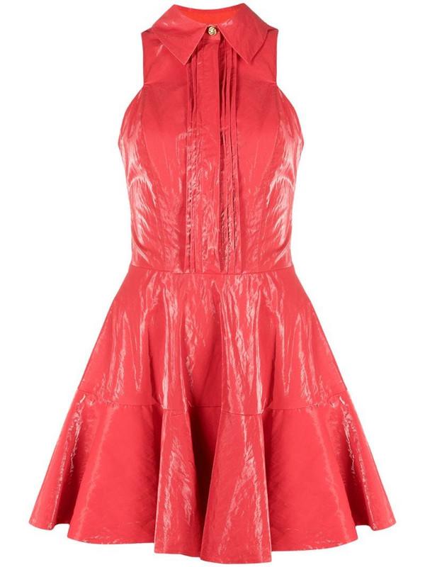 Elisabetta Franchi ruffle-hem minidress in pink