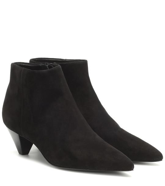 Mercedes Castillo Julienne suede ankle boots in black