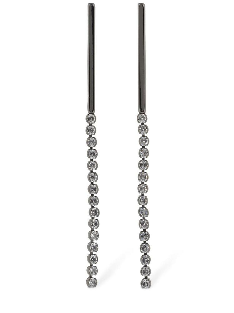 FEDERICA TOSI Linda Crystal Pendant Earrings in black