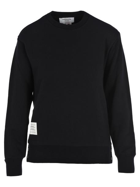 Thom Browne Stripes Detail Sweatshirt in navy