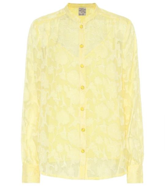 Baum und Pferdgarten Mellanie silk-blend blouse in yellow