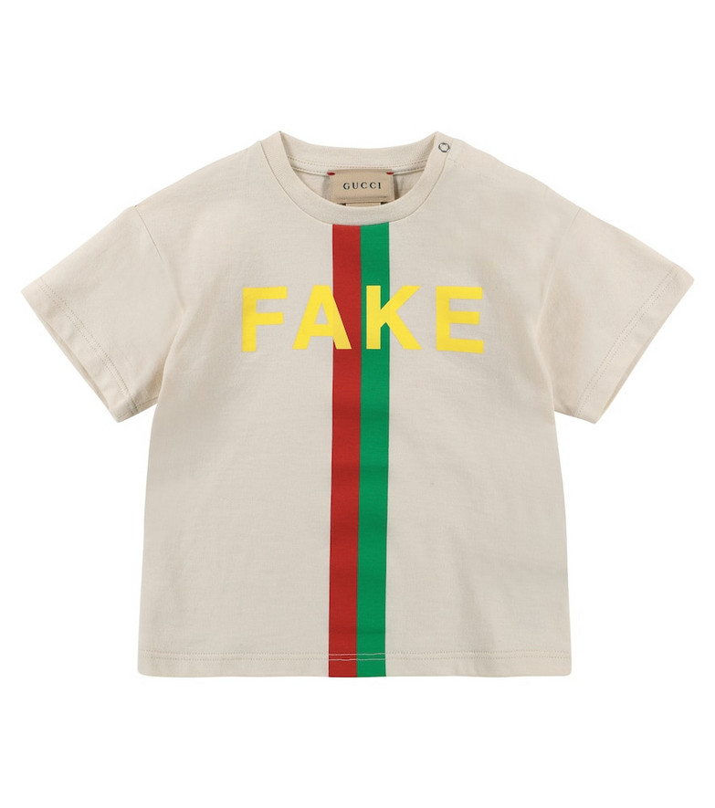Gucci Kids Baby logo cotton jersey T-shirt in white