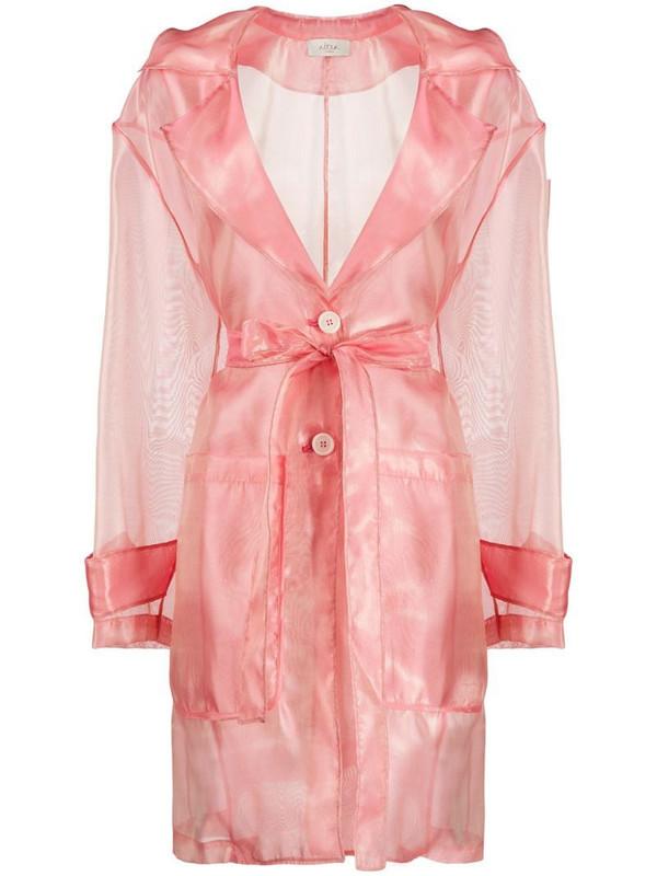 Altea sheer trench coat in pink