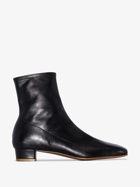 BY FAR black Este 25 leather ankle boots