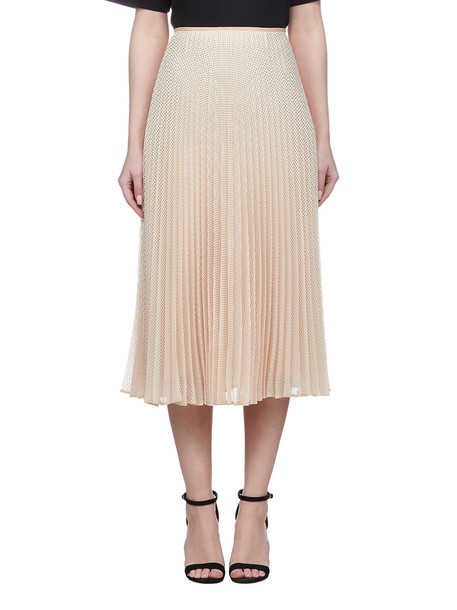 Fendi Pleated Textured Skirt in beige