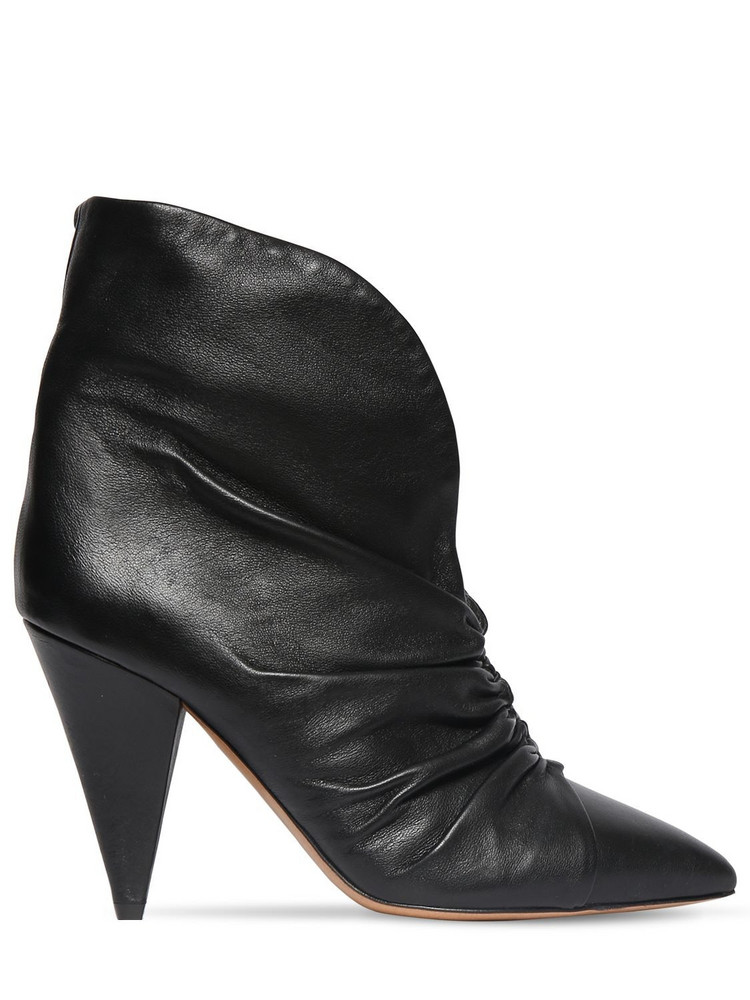 ISABEL MARANT 90mm Lasteen Leather Ankle Boots in black