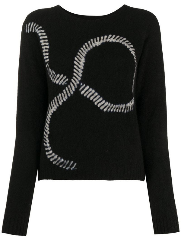 Suzusan long sleeve graphic print jumper in black
