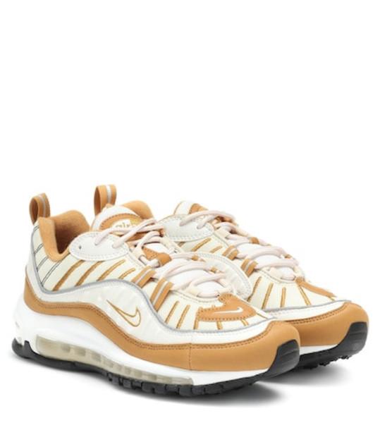Nike Air Max 98 suede and mesh sneakers in beige