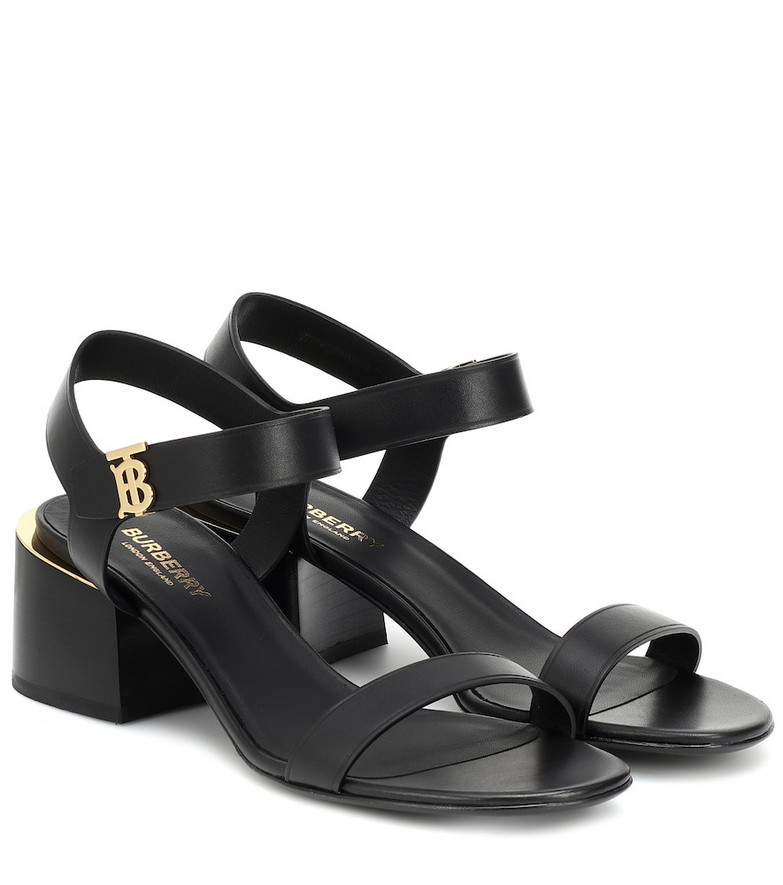 Burberry Hollywell leather sandals in black