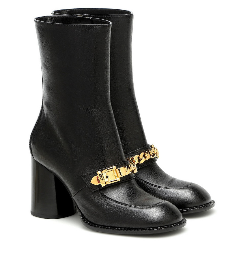 Gucci Sylvie leather ankle boots in black