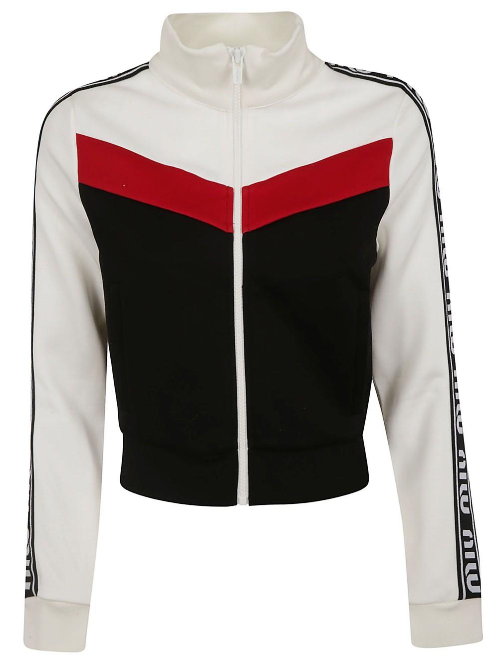 Miu Miu Paneled Jacket in black