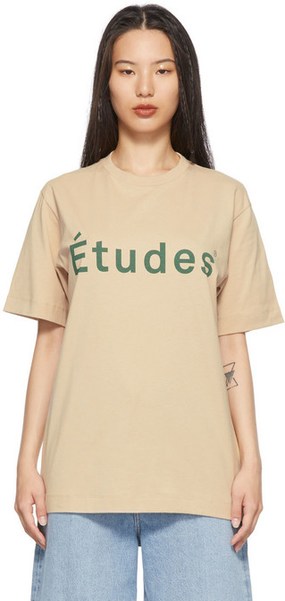 Études Études SSENSE Exclusive Beige Wonder 'Études' T-Shirt