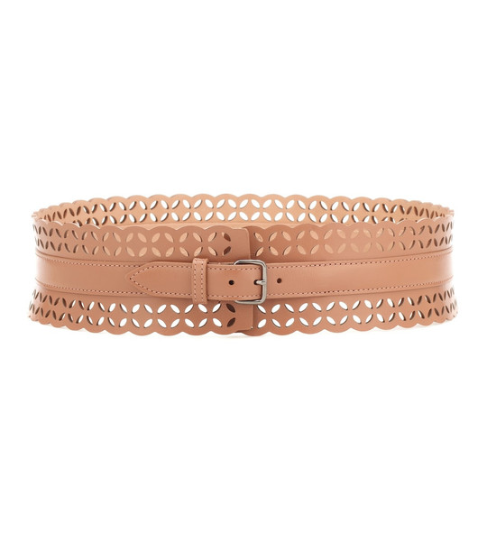 Alaïa Leather belt in brown