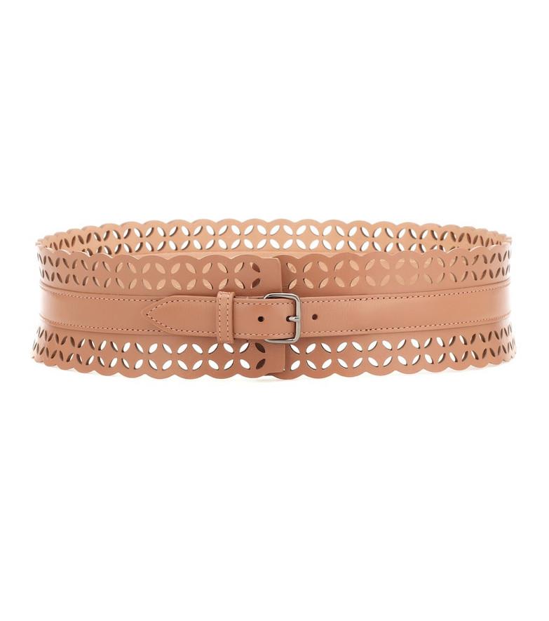 Alaïa Leather belt in brown