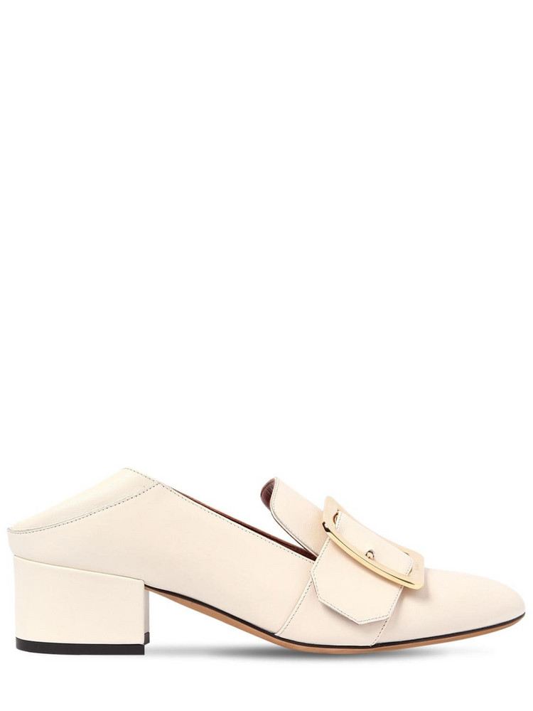 BALLY 40mm Janelle Leather Pumps in white