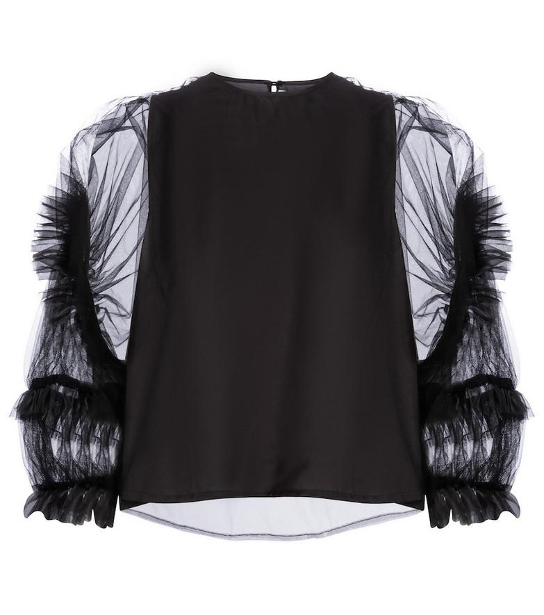 Noir Kei Ninomiya Tulle blouse in black