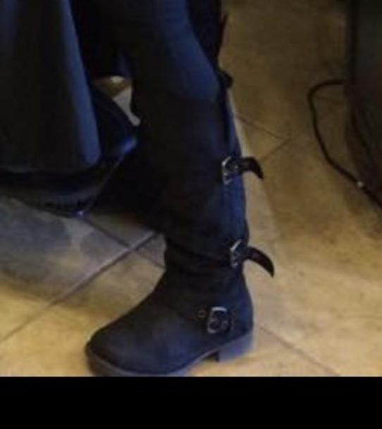 shoes black suede boots