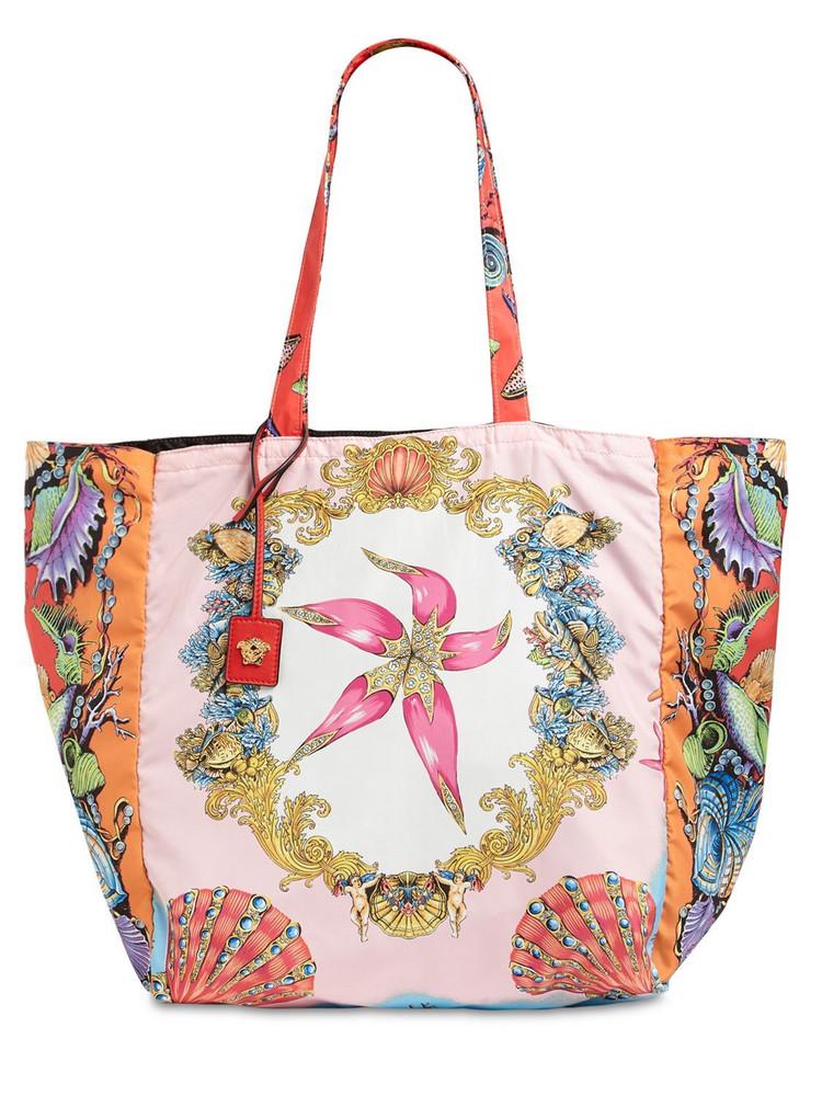 VERSACE Tresor De La Mer Print Nylon Tote Bag