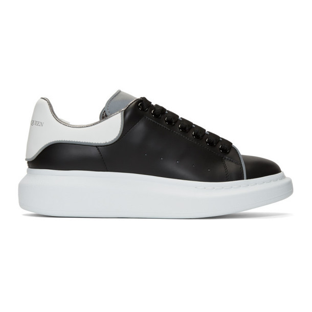 Alexander McQueen Black & White Reflective Oversized Sneakers