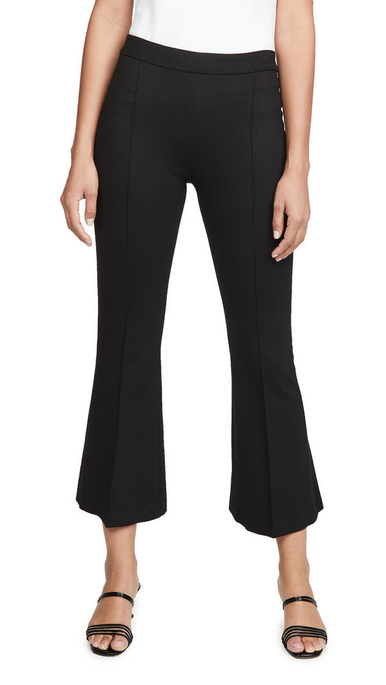 Rosetta Getty Pull On Cropped Flare Pants in black