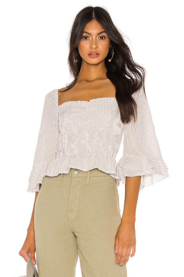 Blue Life Layla Crop Top in white