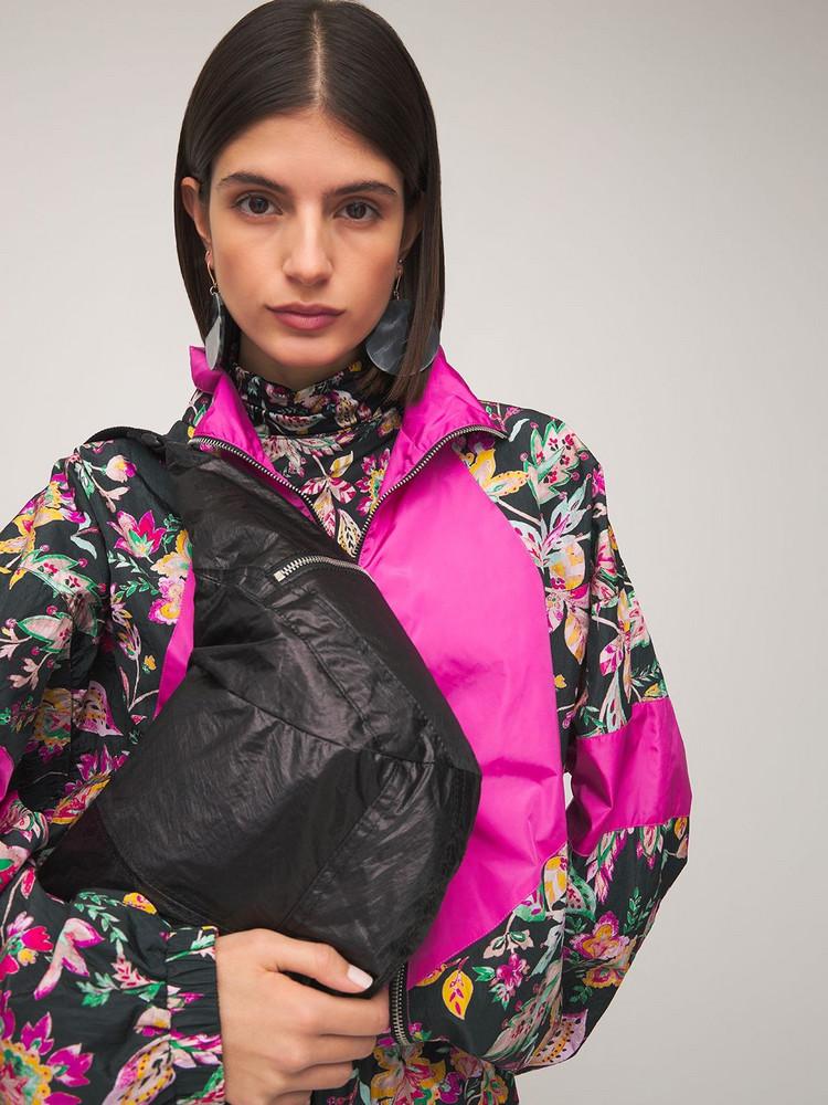 ISABEL MARANT Nilwey Coated Shoulder Bag in black