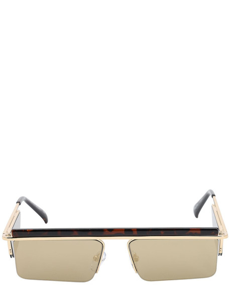 LE SPECS The Flex Mirrored Metal Sunglasses in gold / leopard