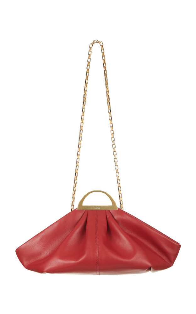 The Volon Gabi Mini Textured-Leather Shoulder Bag in red